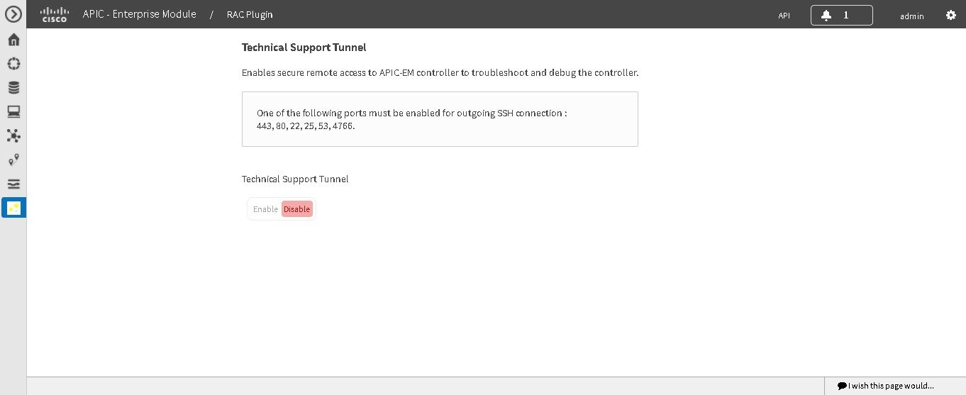 Cisco Remote Troubleshooter Application for APIC-EM User