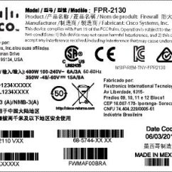 Cat6 Cable Wiring Diagram Stewmac Diagrams Cisco Firepower 2100 Series Hardware Installation Guide Overview Figure 5 Compliance Label On The Chassis
