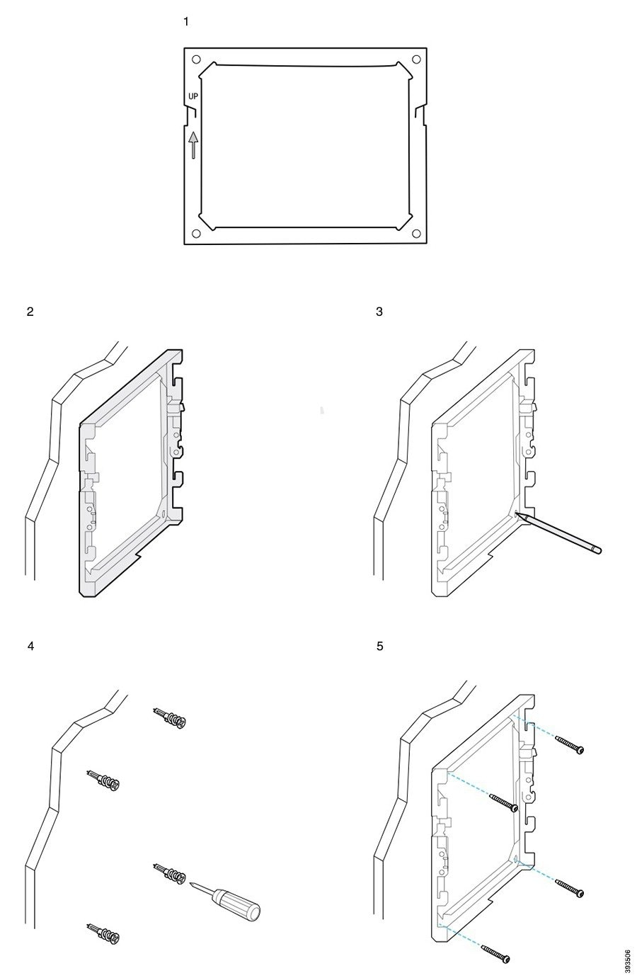 hight resolution of the following diagram illustrates attaching a cisco ip phone 7800 and 8800 series wall bracket to a wall