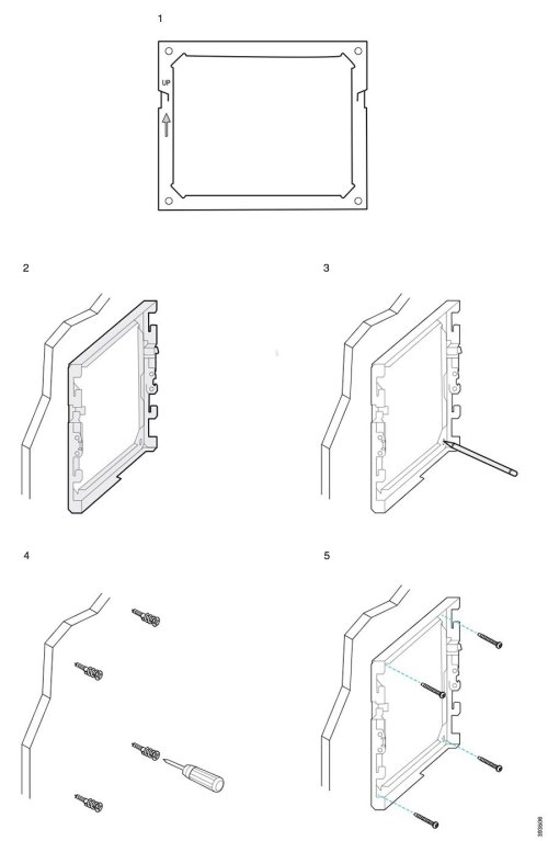 small resolution of the following diagram illustrates attaching a cisco ip phone 7800 and 8800 series wall bracket to a wall