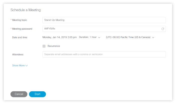 Use Your Cisco Webex Site in Modern View