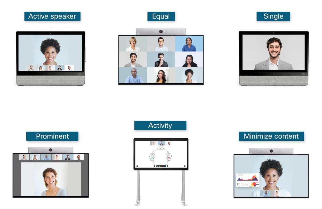 Webex - Webex Rooms   Video Stream Layouts