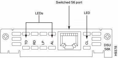 Cisco 1-Port 4-Wire 56-/64-kbps CSU/DSU WAN Interface Card