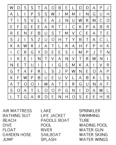 35 Free Printable Summer Word Search PDF for Fun 2018