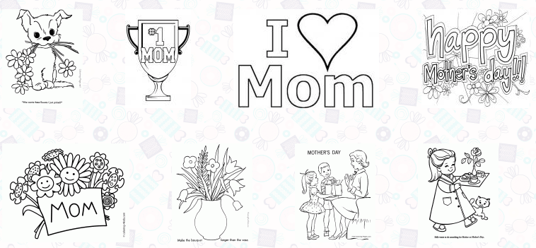Best 30 Free Printable Mother's Day Coloring Pages 2018