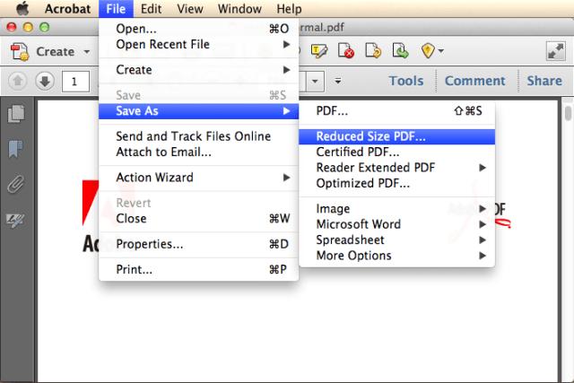 shrink pdf file size with adobe