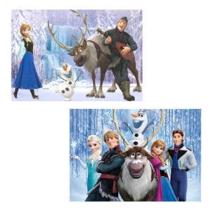 Puzzle La reine des neiges 2x100 pièces
