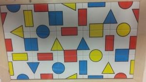 Puzzle symétrie La géométrie