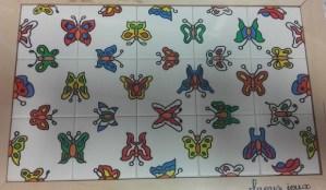 Puzzle symétrie Les papillons
