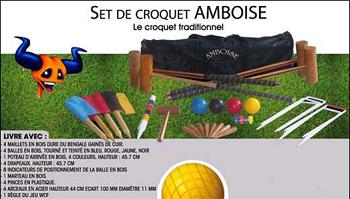 Croquet bois de luxe 4 adultes