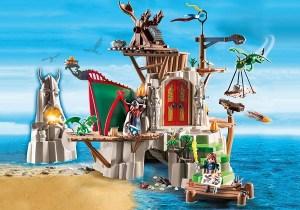 Playmobil Campement de l'île de Beurk ref 9243 avec Astrid et Tempête