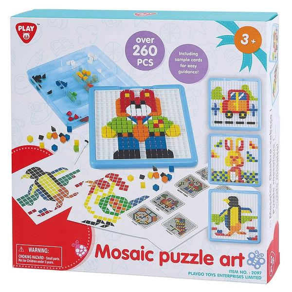 Puzzle mosaic art