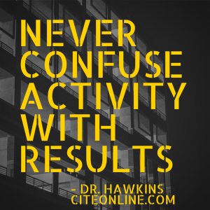 NEVER CONFUSEACTIVITYWITHRESULTS