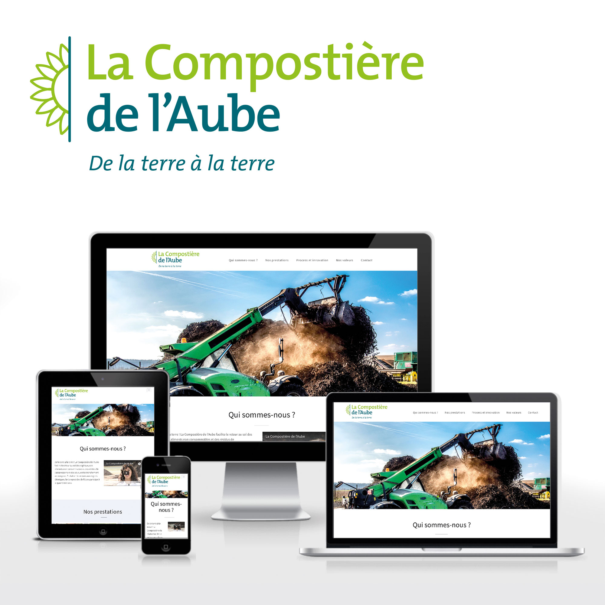 compostiere de l'Aube par Cités Plume, agence de communication à Villeurbanne, Rhône