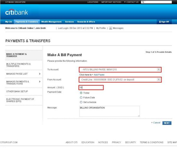 Citibank Bank Account Number