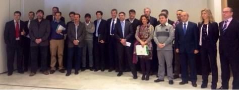 Participantes en el desayuno de responsables de TI de las grandes organizaciones asturianas, en el marco de la III Semana de Impulso TIC 2013.