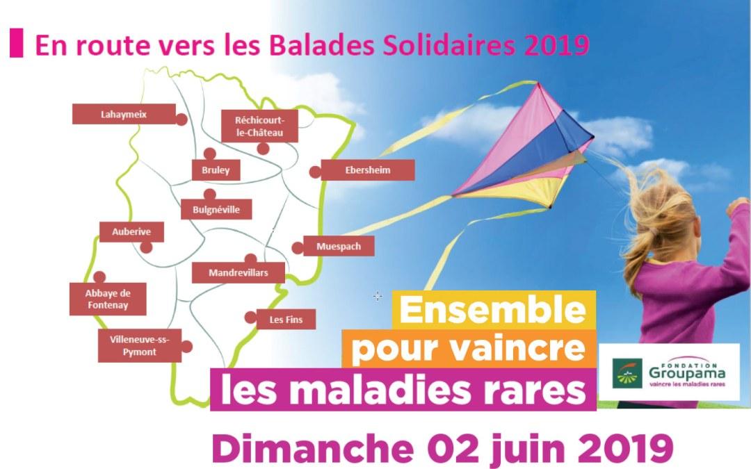 Balades solidaires – Dimanche 02 juin 2019