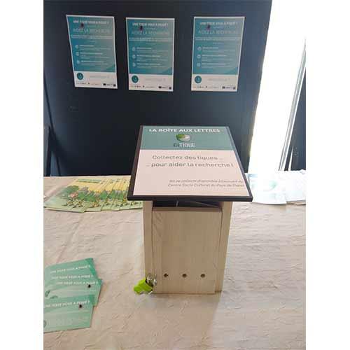 Inauguration de la boite aux lettres CiTIQUE au Centre Socio Culturel du Pays de Thann en Alsace