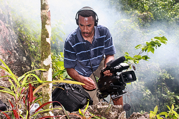 Filming near the Peace Cave in Accompong Courtesy of Roy Anderson