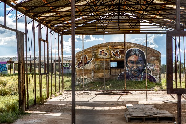 """Chip has put the Navajo Nation on the global street art map. """"A lot of artists are keen to come here because this is a very different experience, immersed in the community."""" """"My hope is that the artist leaves enlightened and that the community feels enriched."""" Photo © Maria Jain"""