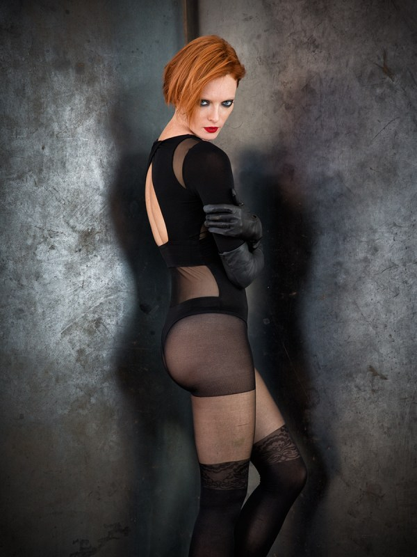 Leather gloves by La Crasia Gloves Tights by Urban Outfitters Photo © Icarus Blake