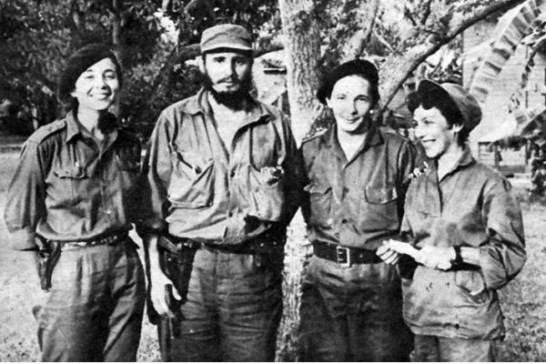 Vilma Espin, Fidel and Raul Castro, Celia Sanchez