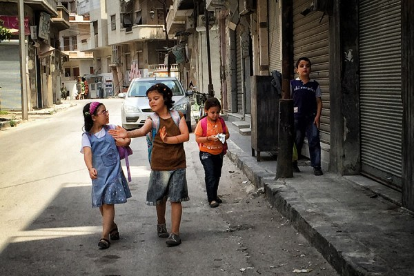 Going to school Homs, Syria ©Citizen Brooklyn 2015