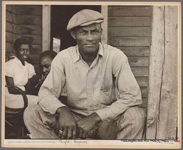 Ben Shahn - Sharecropper on Sunday, Little Rock, Ark., October 1935. http://digitalcollections.nypl.org/items/510d47de-8171-a3d9-e040-e00a18064a99