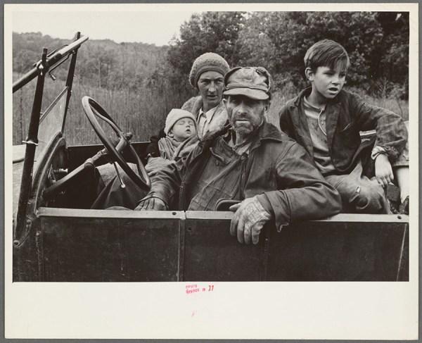 Ben Shahn - A destitute family, Ozark Mountains area, [Arkansas] – 1935 http://digitalcollections.nypl.org/items/629acaf0-fc0c-0132-ee40-58d385a7b928