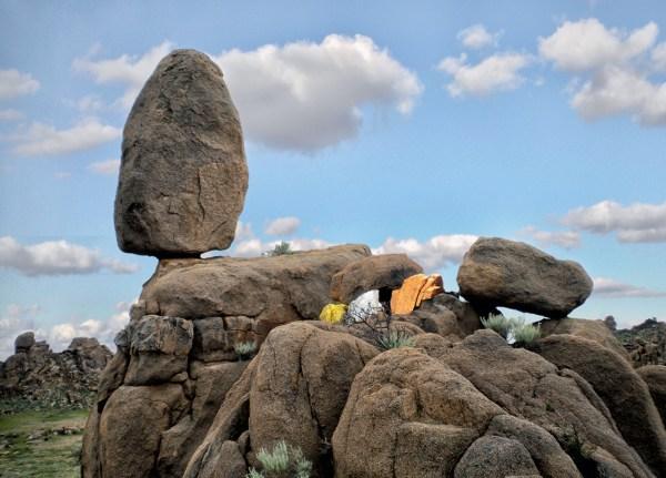 Blue Sky Balance Rock ©Bruce Conkle