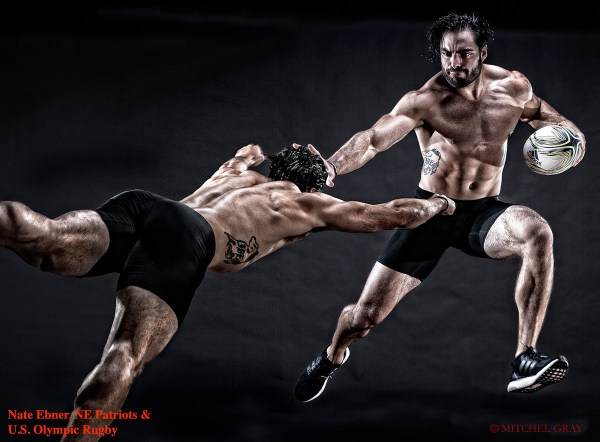 Nate Ebner - NE patriots & US Olympic Rugby Team - ©Mitchel Gray