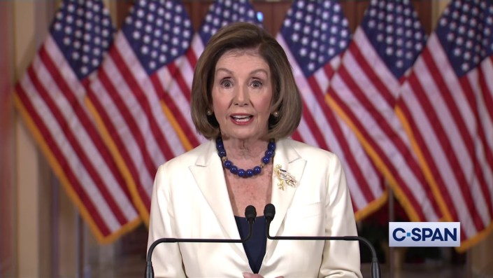 Pelosi Impeachment Show – Raspy Voice Fails