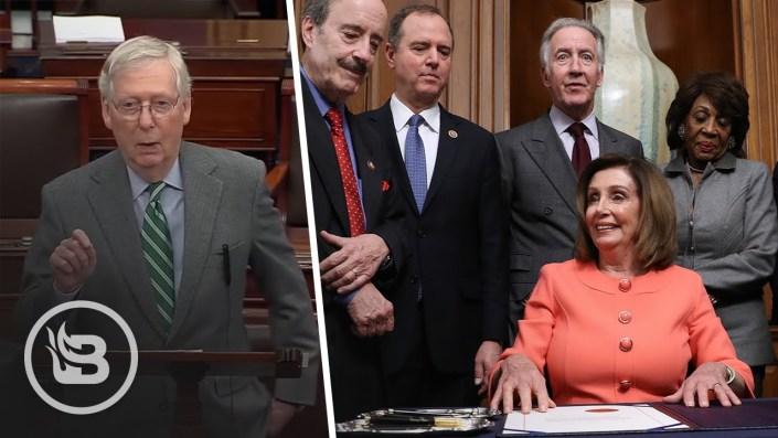 Nancy's bullet-shaped impeachment pens…