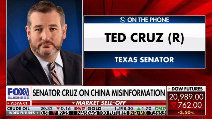 Ted Cruz – Did the virus escape accidentally or on purpose?
