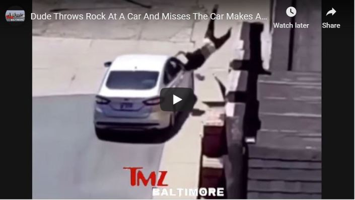 HOLY SHITE — Driver delivers instant karma!