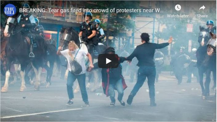 AWESOME VIDEO — Police fire tear gas into crowd of WH hooligans – Watch Them Run!