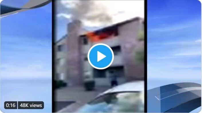 You need a hero, America? — Marine catches 3 year-old boy dropped from burning building!