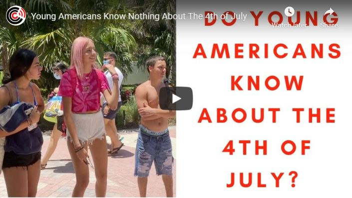 STUNNING VIDEO — Young Americans know nothing