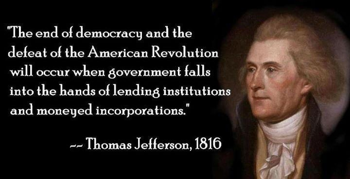 Image result for founding fathers warn about central banksters