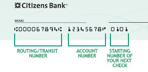 Order Checks Online Or In Person Citizens Bank