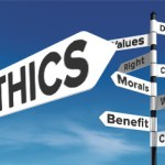 Ethics on signs pointing directions