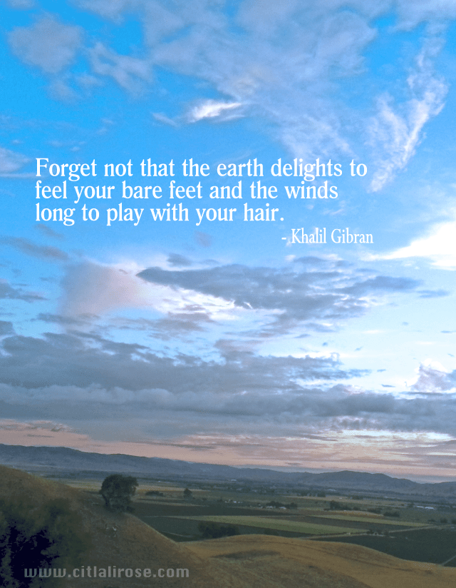 Citlali Rose Quote Khalil Gibran Earth Delights