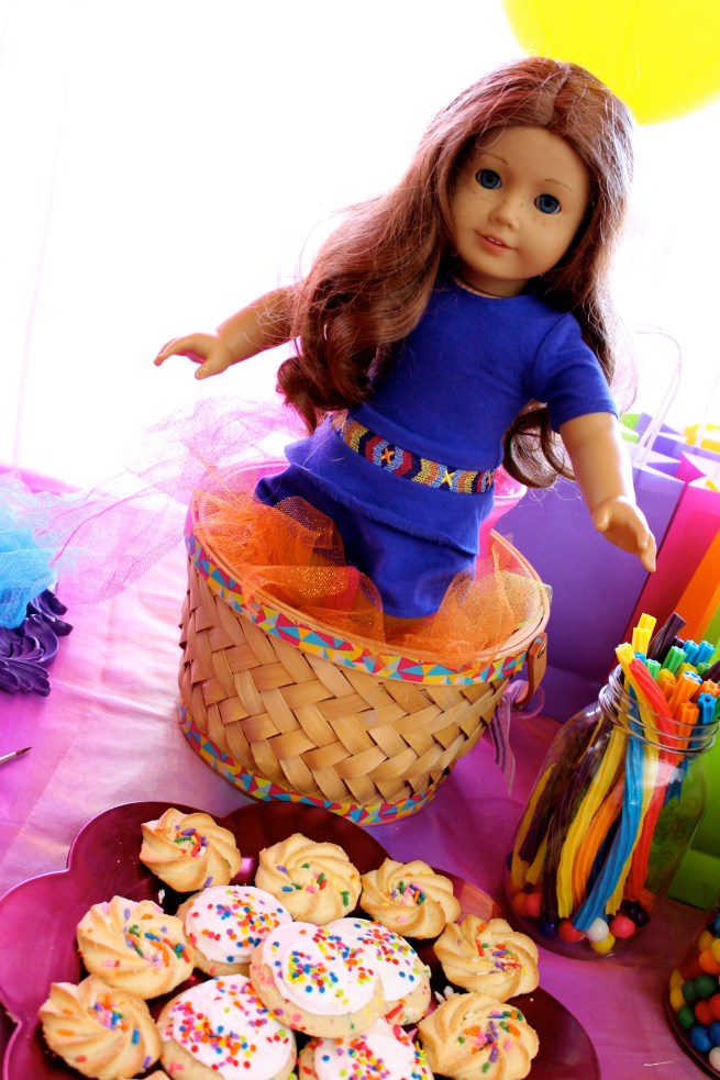American Girl Saige Doll Art Party