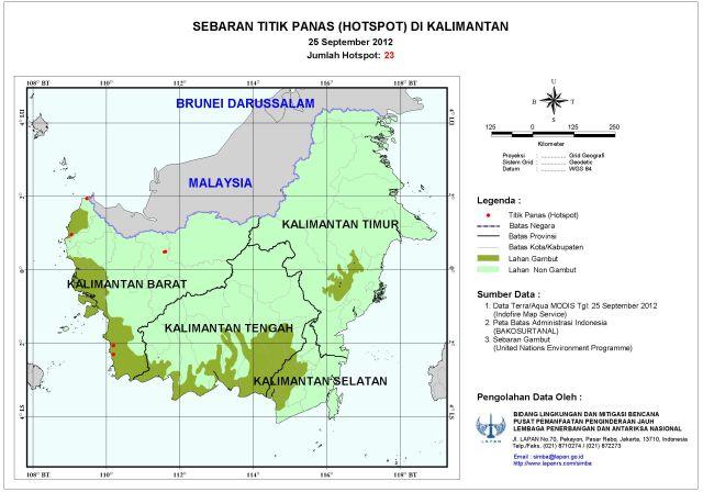 Sebaran Hotspot di Indonesia