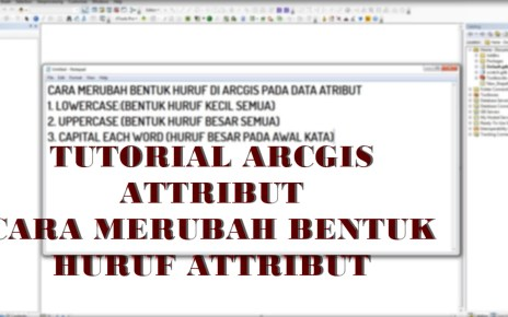 Cara Merubah Bentuk Huruf Data Atribut ArcGIS