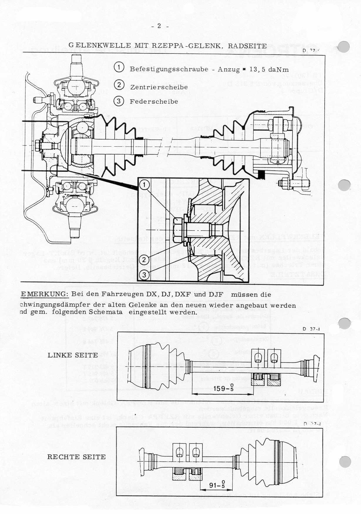 DS Rzeppa drive shaft