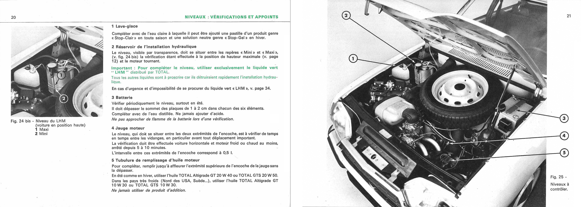 1970 Citroën GS Notice d'emploi (owner's manual) #1