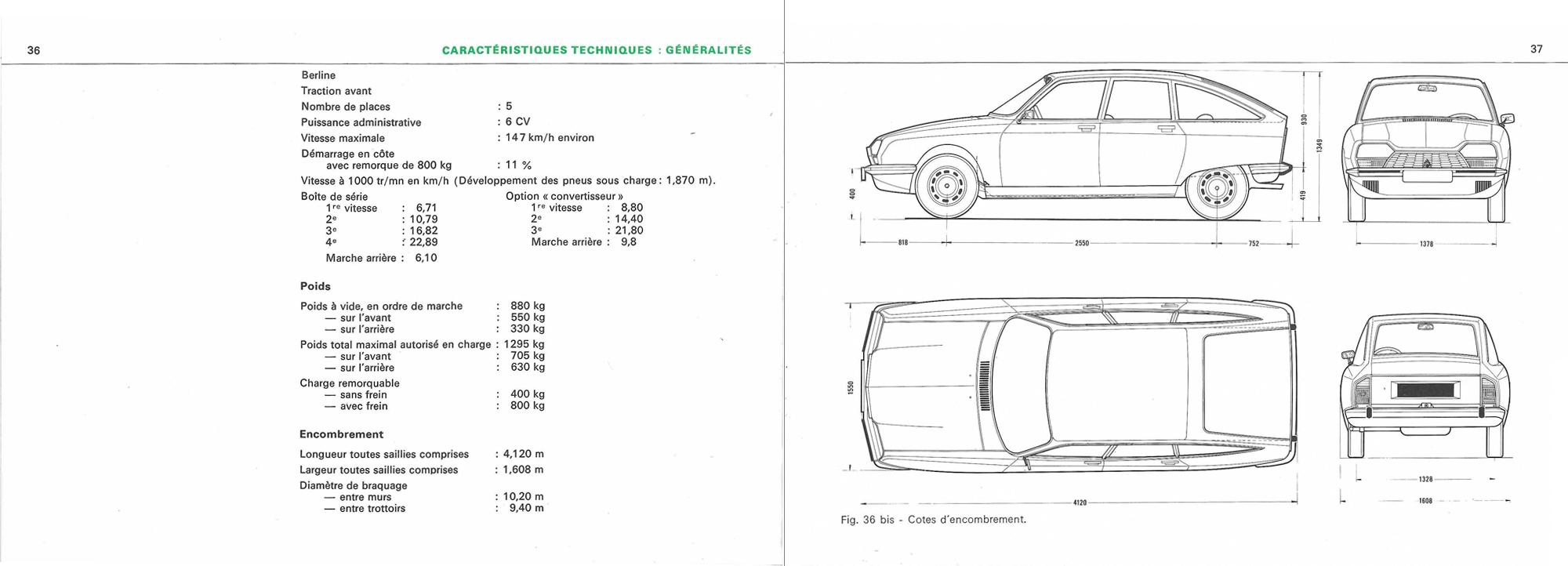 1970 Citroën GS Notice d'emploi (owner's manual) #2