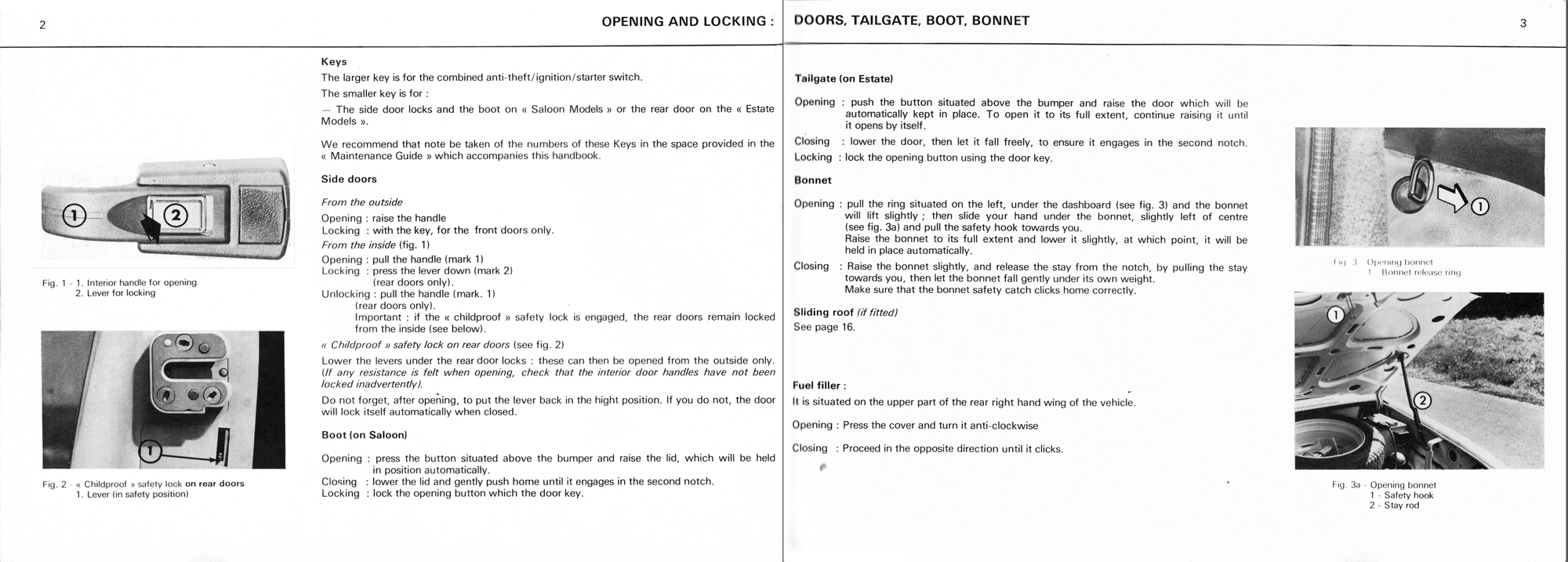 1976 Citroën GS owner's manual Page 1