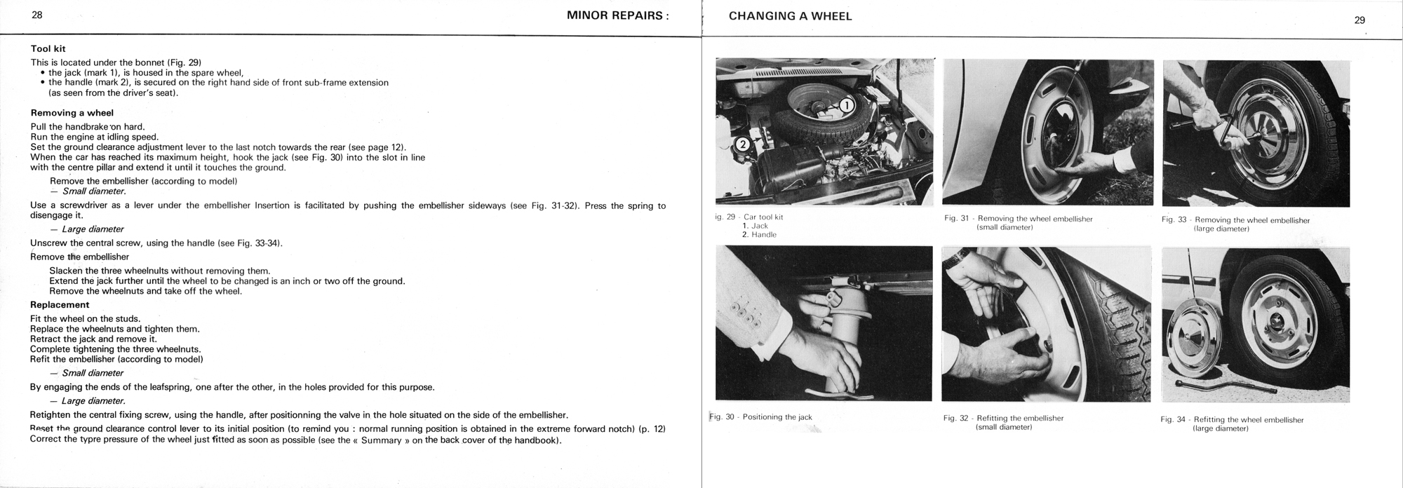 1976 Citroën GS owner's manual Page 2